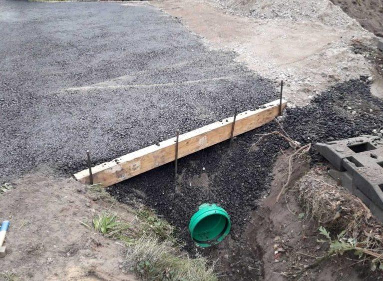 <h4>Rohrdurchführung der Baustellenüberfahrt</h4>